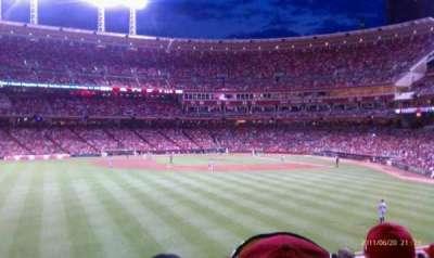 Great American Ball Park, vak: 102, rij: L , stoel: 4