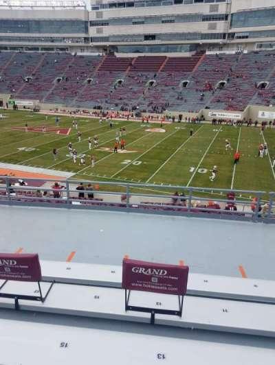 Lane Stadium, vak: 3, rij: LL, stoel: 13