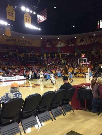 Wells Fargo Arena (Tempe), vak: U, rij: 2, stoel: 7
