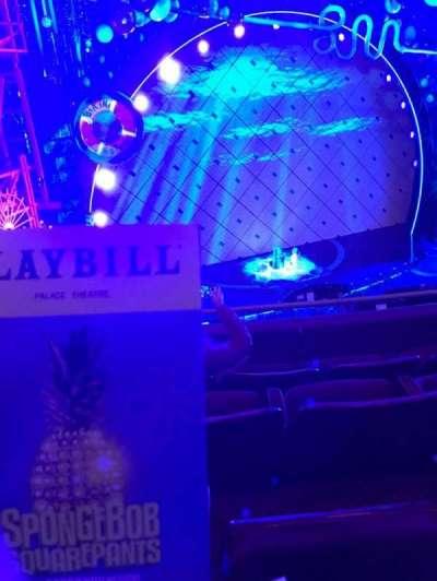 Palace Theatre (Broadway), vak: Left Mezz, rij: C, stoel: 11