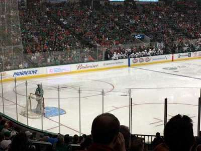 American Airlines Center, vak: 110, rij: V, stoel: 18