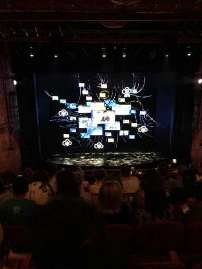 August Wilson Theatre, vak: Mezz C, rij: G, stoel: 111