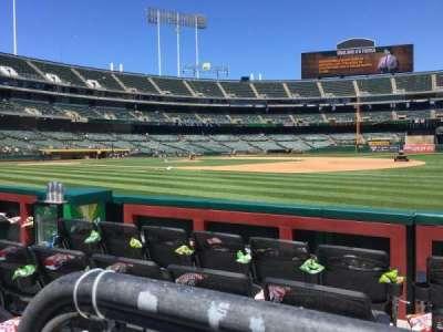 Oakland Alameda Coliseum, vak: 109, rij: 1, stoel: 6