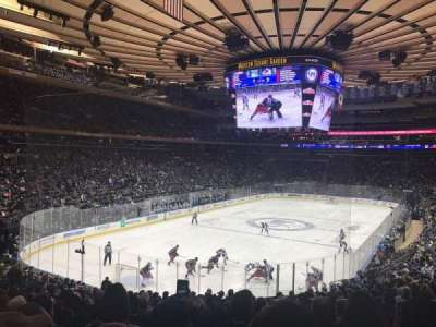 Madison Square Garden, vak: 113, rij: 21, stoel: 19