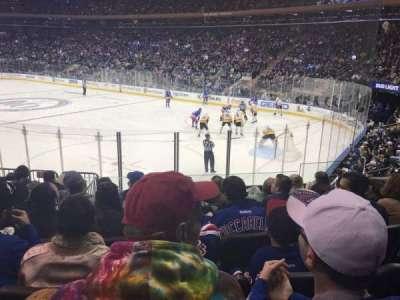 Madison Square Garden, vak: 110, rij: 11, stoel: 13