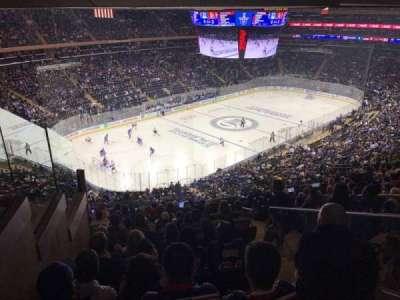 Madison Square Garden, vak: 220, rij: 13, stoel: 21