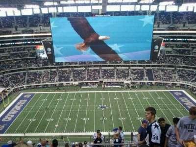 AT&T Stadium, vak: 413, rij: 21, stoel: 2