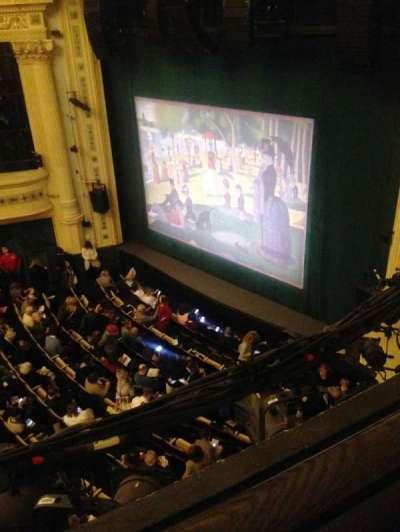 Hudson Theatre, vak: Balcony, rij: A, stoel: 20