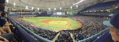 Tropicana Field, vak: 207, rij: A, stoel: 10