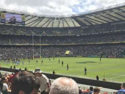 Twickenham Stadium, vak: L22, rij: 21, stoel: 109