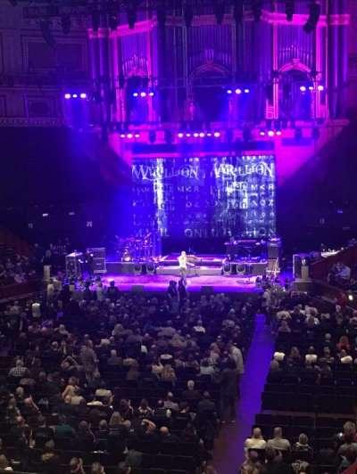 Royal Albert Hall, vak: Grand Tier 25, stoel: 2