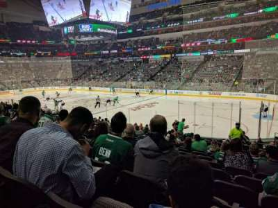American Airlines Center, vak: 116, rij: R, stoel: 4
