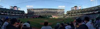 Oakland Alameda Coliseum, vak: 117, rij: 16, stoel: 8