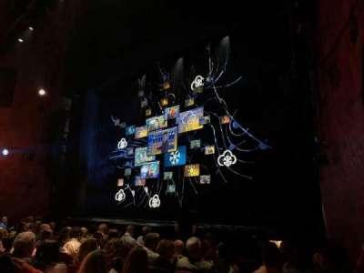 August Wilson Theatre, vak: ORCHR, rij: H, stoel: 18