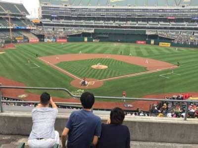 Oakland Alameda Coliseum, vak: 216, rij: 4, stoel: 14