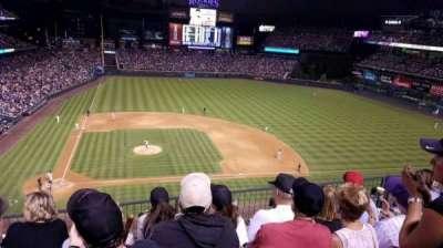 Coors Field, vak: L325, rij: 4, stoel: 16