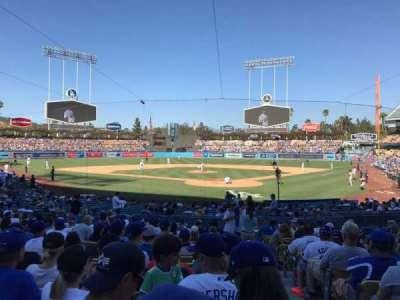 Dodger Stadium, vak: 3FD, rij: O, stoel: 1