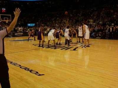 Chesapeake Energy Arena, vak: courtside