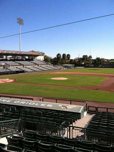 Ed Smith Stadium, vak: 207, rij: 7, stoel: 12