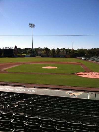 Ed Smith Stadium, vak: 216, rij: 7, stoel: 12