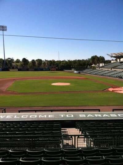 Ed Smith Stadium, vak: 217, rij: 7, stoel: 12