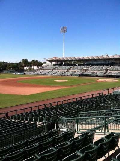 Ed Smith Stadium, vak: 223, rij: 7, stoel: 12