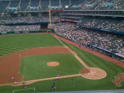 Progressive Field, vak: 461, rij: A, stoel: 4