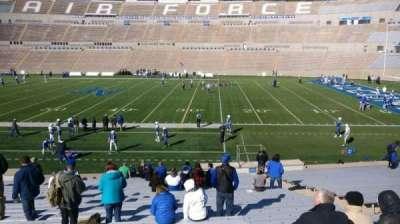 Falcon Stadium, vak: M21, rij: AA, stoel: 10