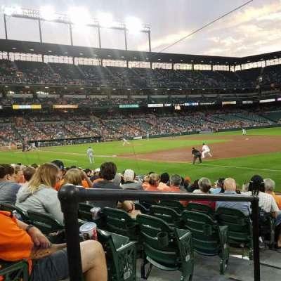 Oriole Park at Camden Yards, vak: 12, rij: 11, stoel: 24