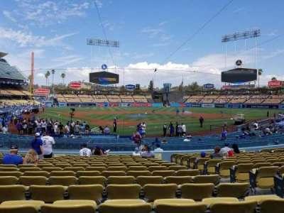 Dodger Stadium, vak: 4fd, rij: P, stoel: 9