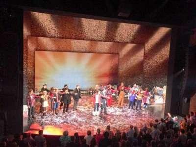 August Wilson Theatre, vak: Mezz, rij: A, stoel: 7