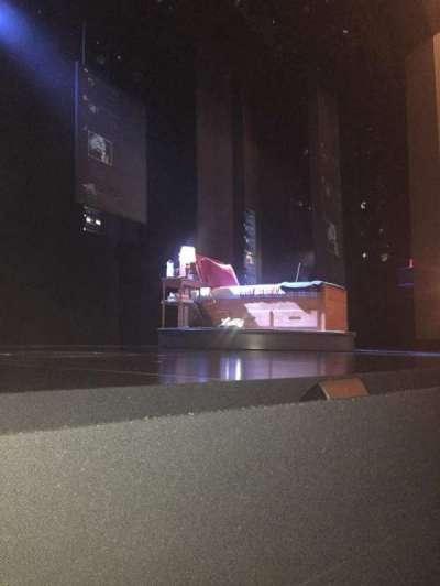 Music Box Theatre, vak: Orchestra, rij: A, stoel: 1