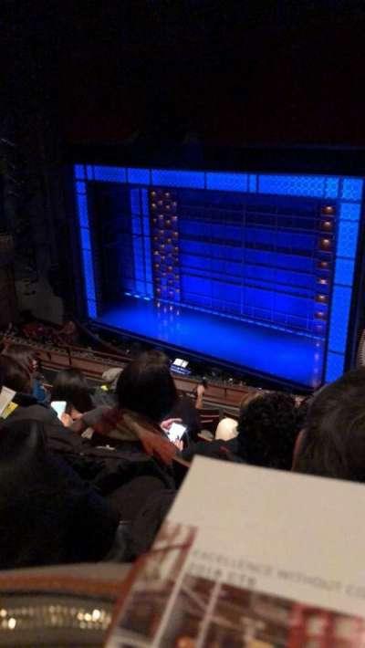 Stephen Sondheim Theatre, vak: Mezz, rij: GG