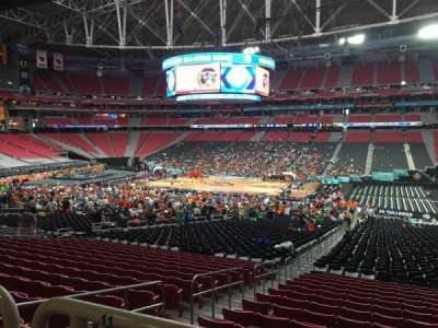 University of Phoenix Stadium, vak: 105, rij: WC, stoel: 10