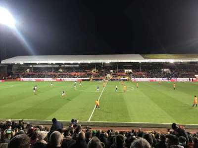 Pittodrie Stadium, vak: South Stand Area T, rij: T, stoel: 127