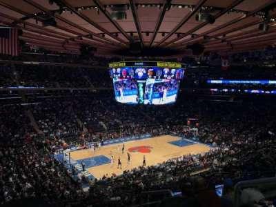 Madison Square Garden, vak: 221, rij: 5, stoel: 21