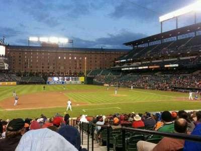 Oriole Park at Camden Yards, vak: 56, rij: 22, stoel: 1