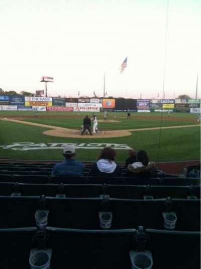 TD Bank Ballpark, vak: 101, rij: J, stoel: 4