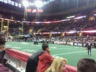 Quicken Loans Arena, vak: 110, rij: 2, stoel: 14