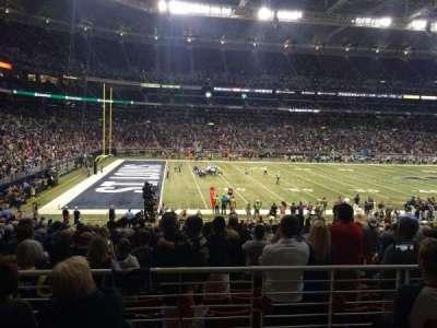The Dome at America's Center, vak: 117, rij: AA, stoel: 14