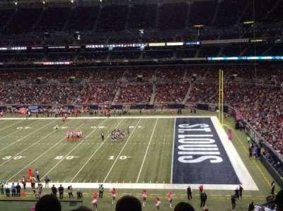 The Dome at America's Center, vak: 310, rij: f, stoel: 12
