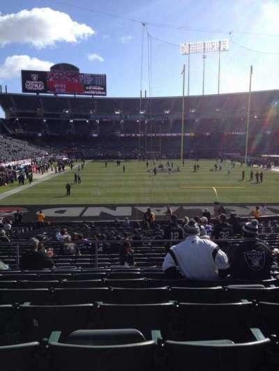 Oakland Alameda Coliseum, vak: 129, rij: 29, stoel: 8