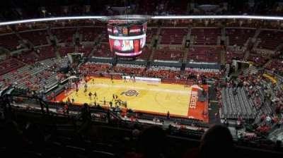 Value City Arena, vak: 321, rij: m, stoel: 11