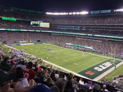 metlife stadium, vak: 233, rij: 10, stoel: 1