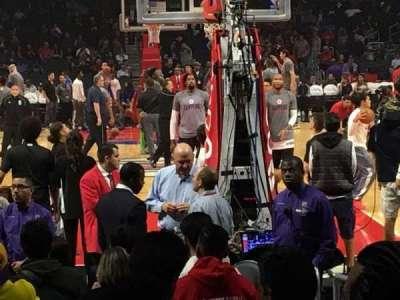 Staples Center, vak: 116, rij: 4, stoel: 1