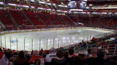 PNC Arena, vak: 108, rij: T, stoel: 9