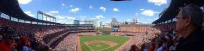 Oriole Park at Camden Yards, vak: 256, rij: 1, stoel: 4