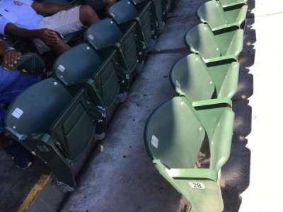 Oakland Alameda Coliseum, vak: 114, rij: 29, stoel: 1