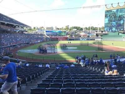 Kauffman Stadium, vak: 131, rij: W, stoel: 1
