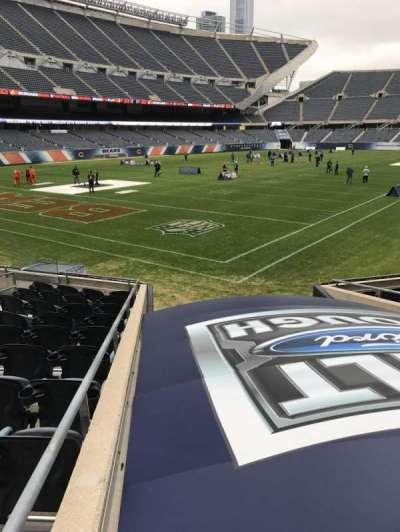 Soldier Field, vak: 119, rij: 11